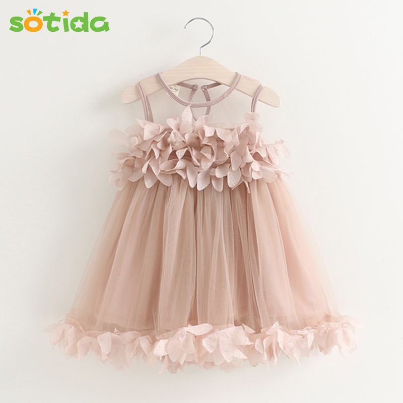 f86d36382a76 Sotida Girls Dresses 2017 Sweet Princess Dress Baby Kids Girls ...
