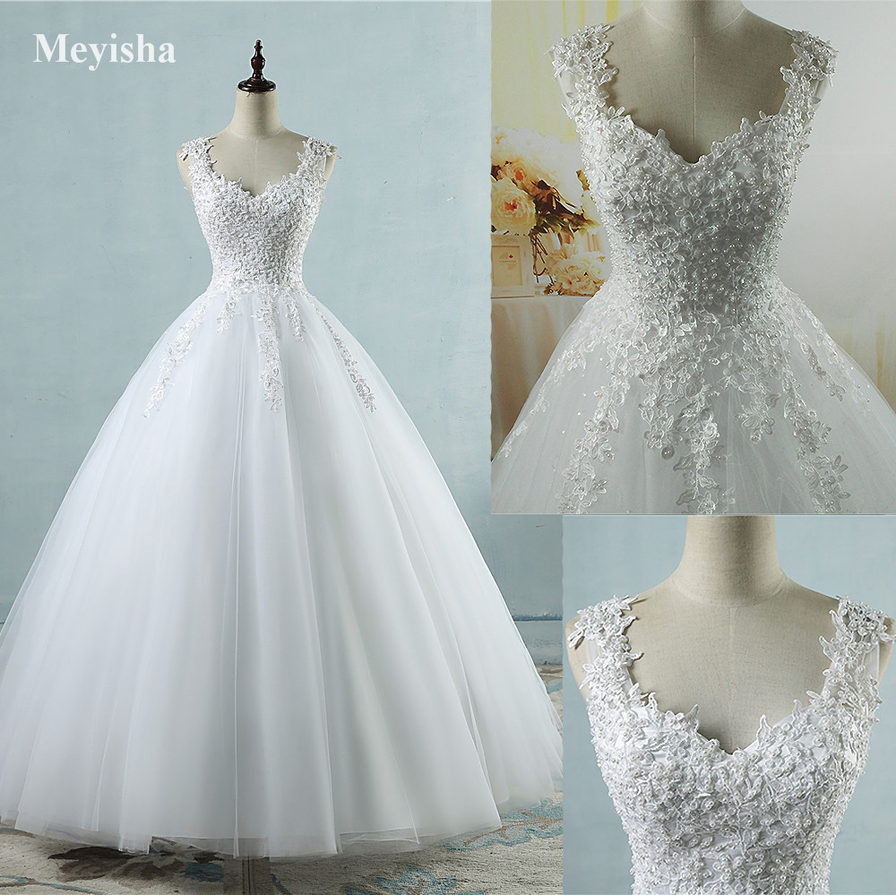 ZJ9076 Ball Gown Real Images Vestido De Novia Tulle Wedding Dress ...